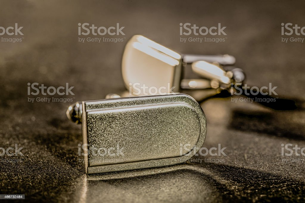 Cufflinks stock photo