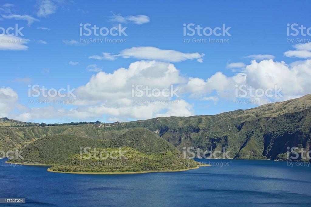 Cuicocha Crater Lake stock photo