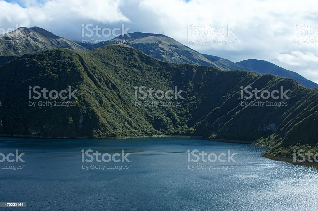 Cuicocha Crater Lake stock photo
