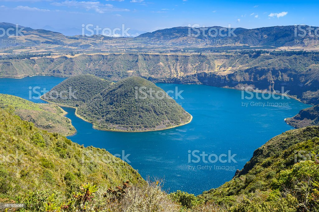 Cuicocha crater lake, Reserve Cotacachi-Cayapas, Ecuador stock photo