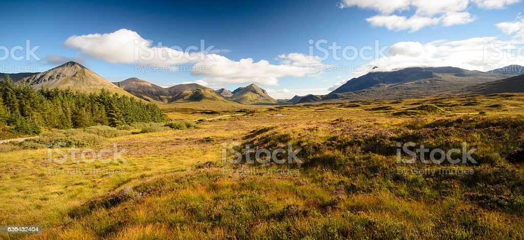 Cuillin Hills of the Isle of Skye stock photo