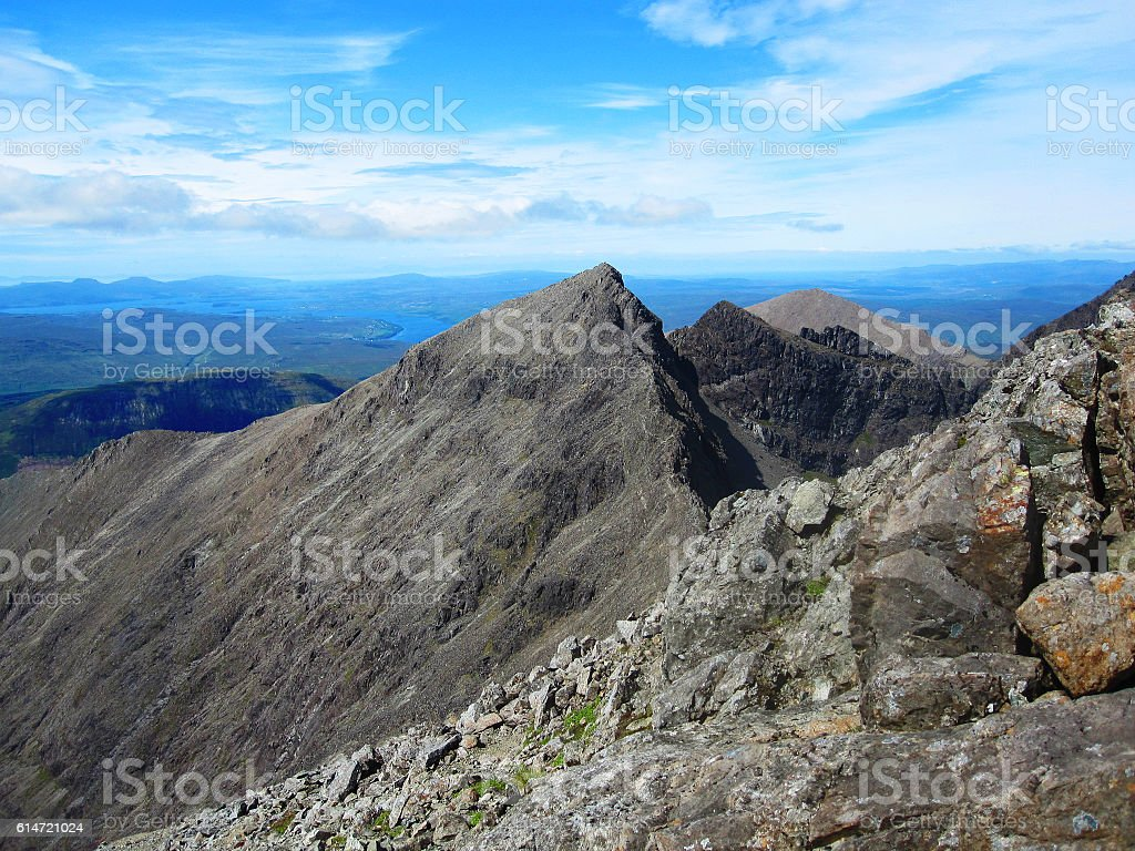 Cuillin mountains on the Isle of Skye stock photo