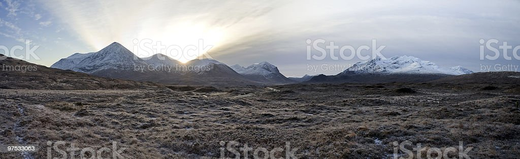 Cuillin Mountains stock photo