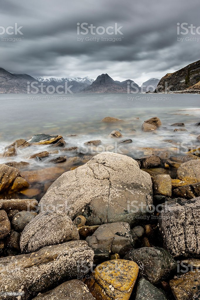 Cuillins from Elgol, Scotland stock photo