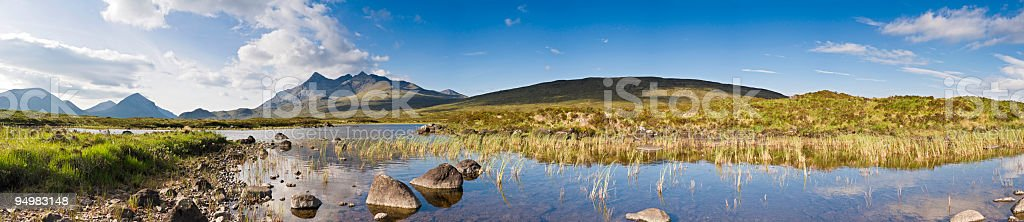 Cuillins from Sligachan Isle of Skye royalty-free stock photo