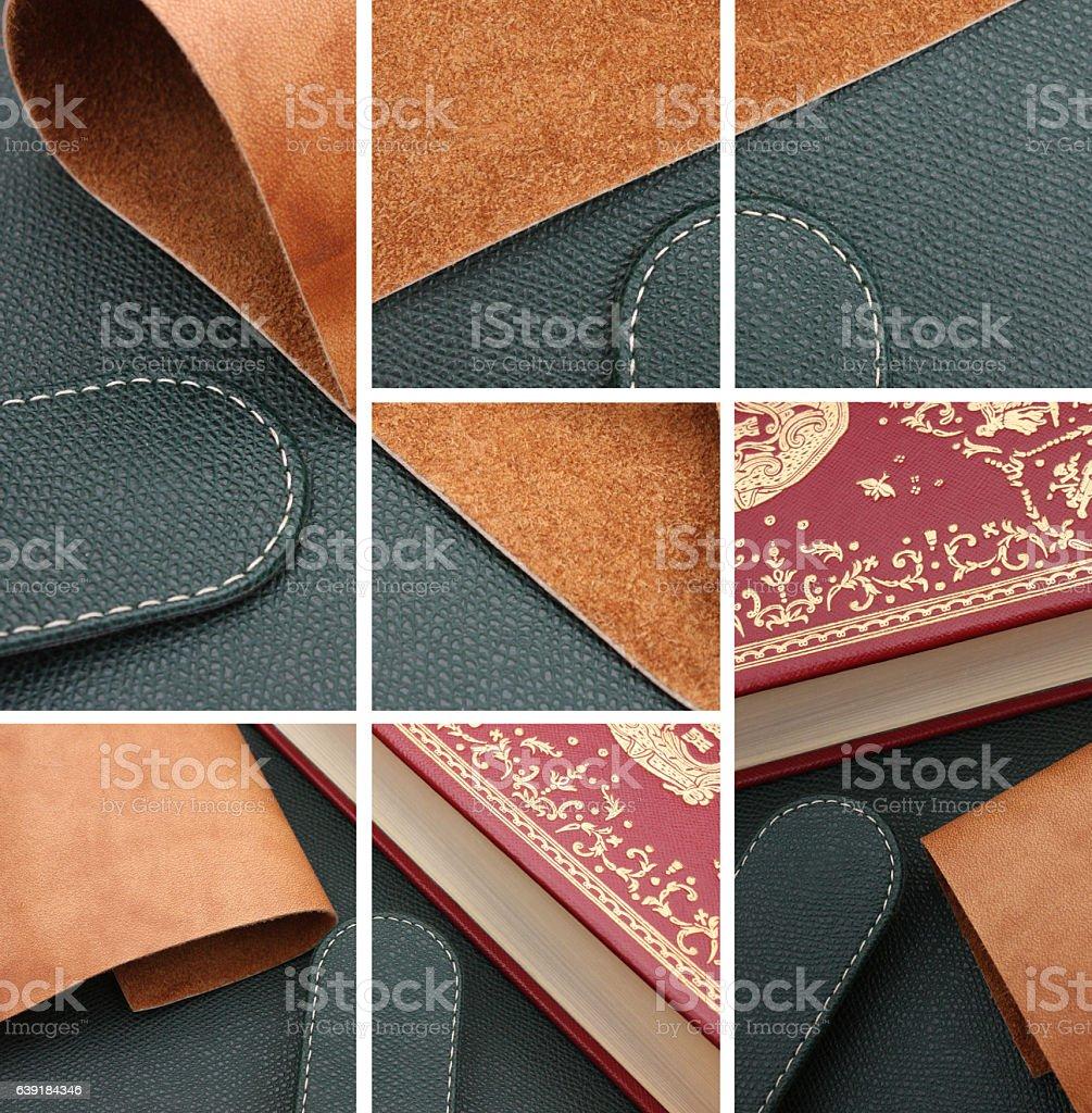 Cuir - Croûte de Cuir - Reliure stock photo
