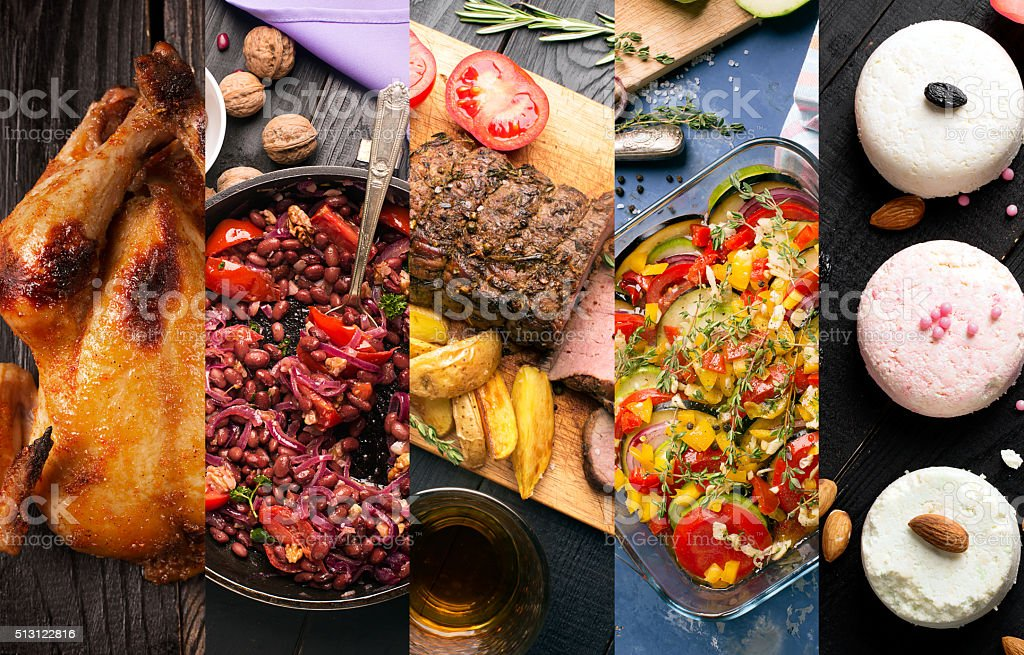 Cuisine of different countries stock photo