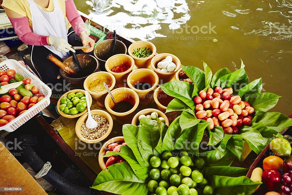 Cuisine on the boat stock photo