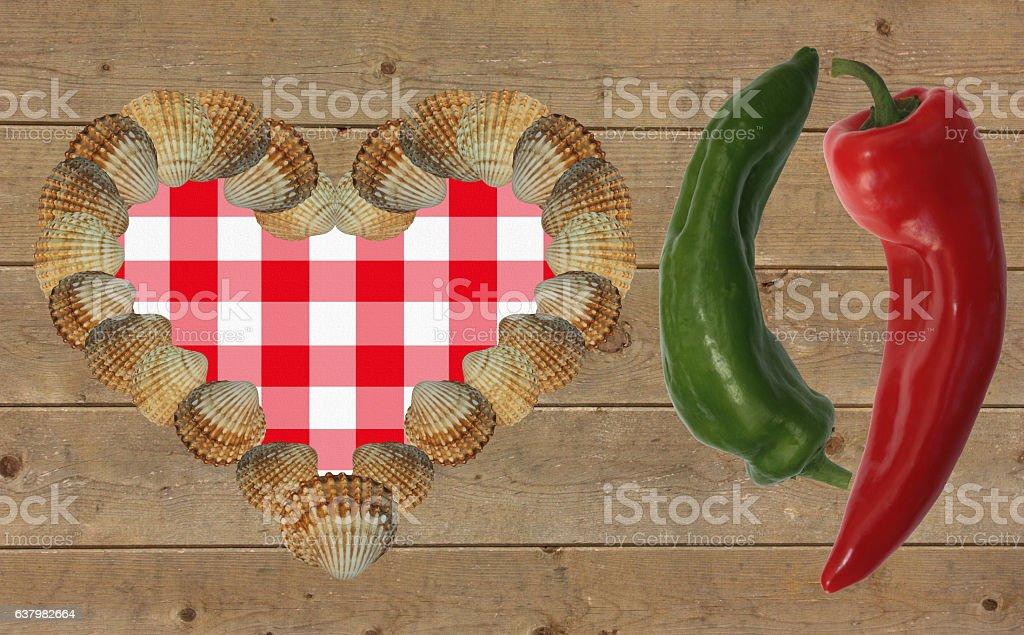 Cuisine poivrons rouge et vert stock photo