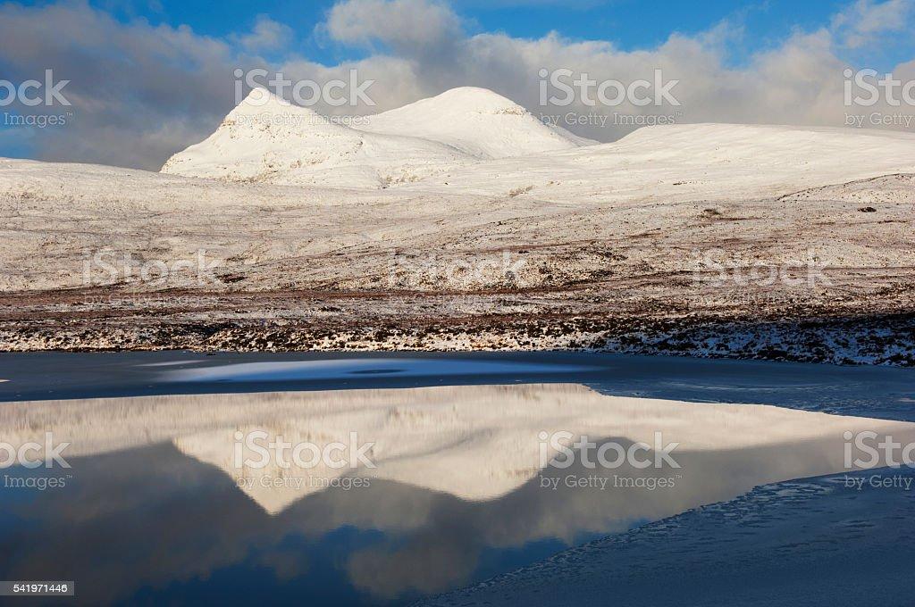 Cul Mor in winter stock photo