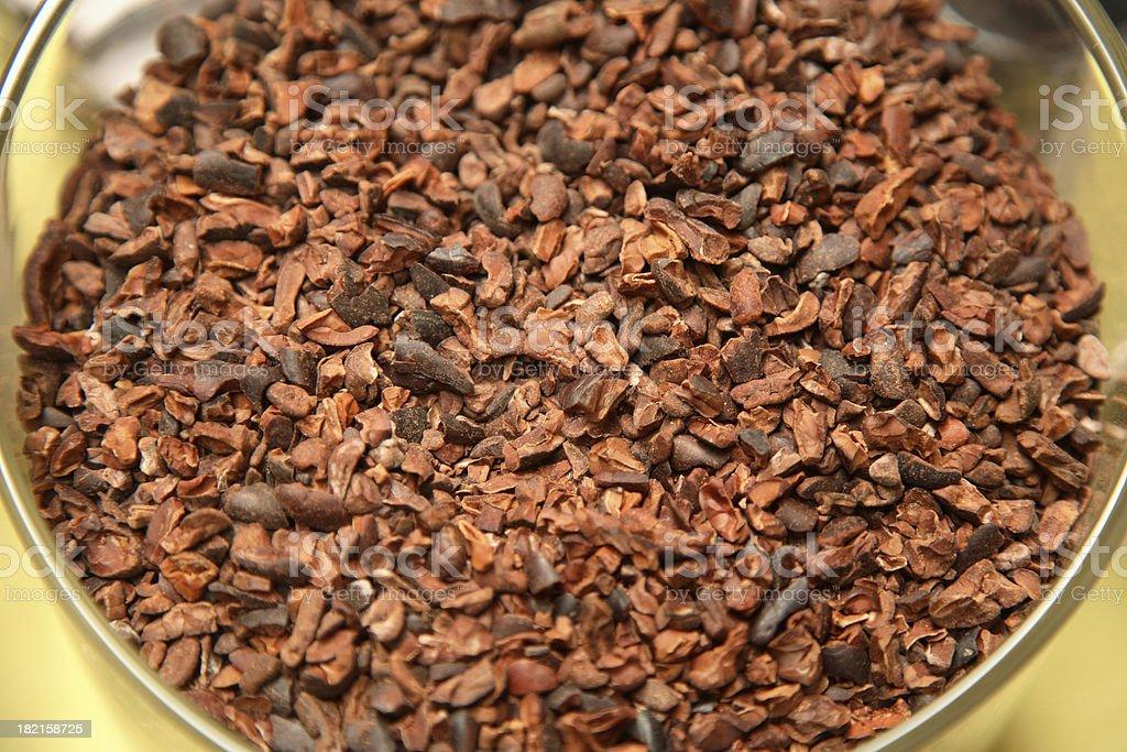 Culinary: Cacao Nibs stock photo