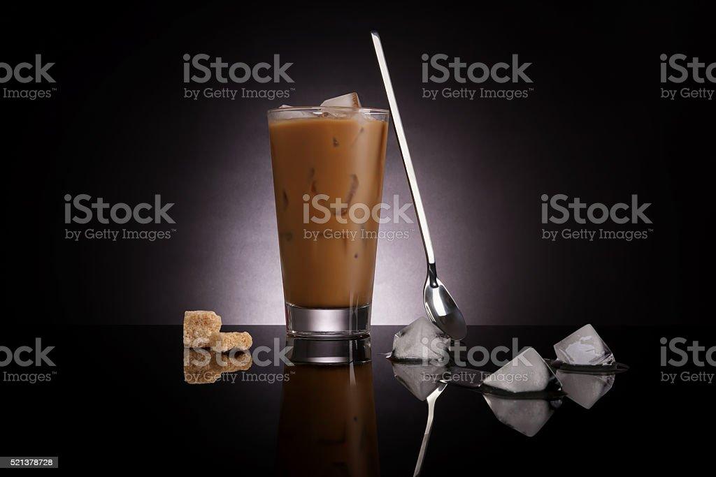 Culinary ice coffee. stock photo