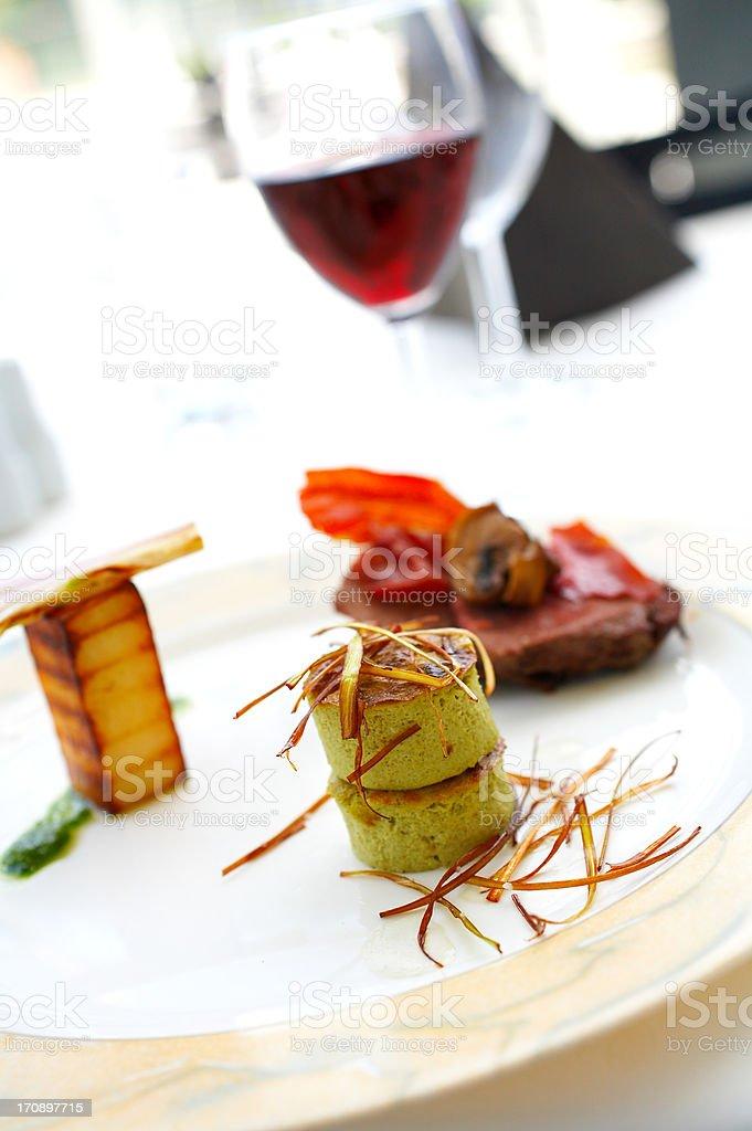 A culinary masterpiece stock photo
