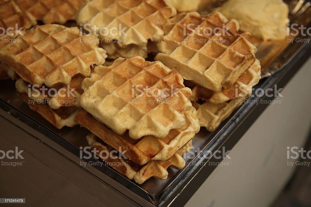 Culinary: Waffles royalty-free stock photo