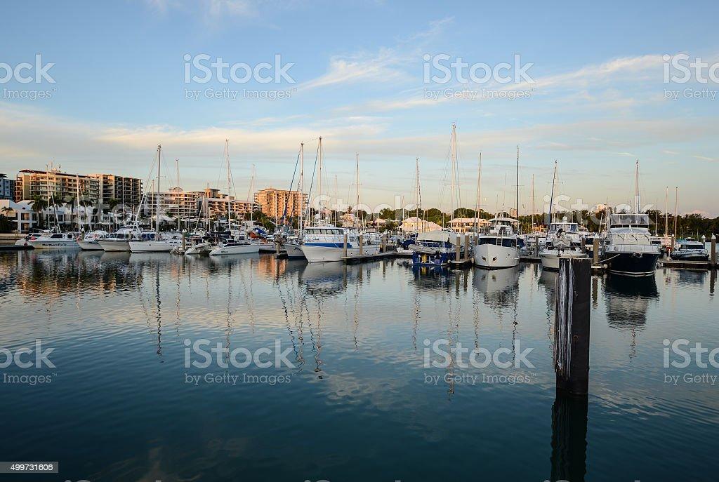 Cullen Bay Marina, Darwin, Northern Territory at Sunset stock photo