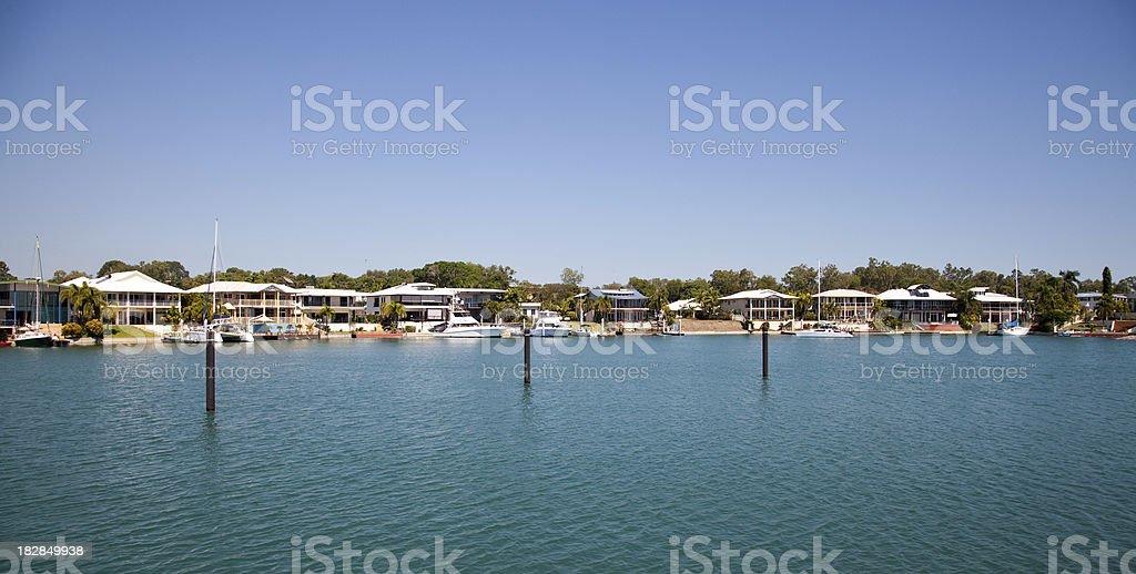 Cullen Bay Marina Homes royalty-free stock photo