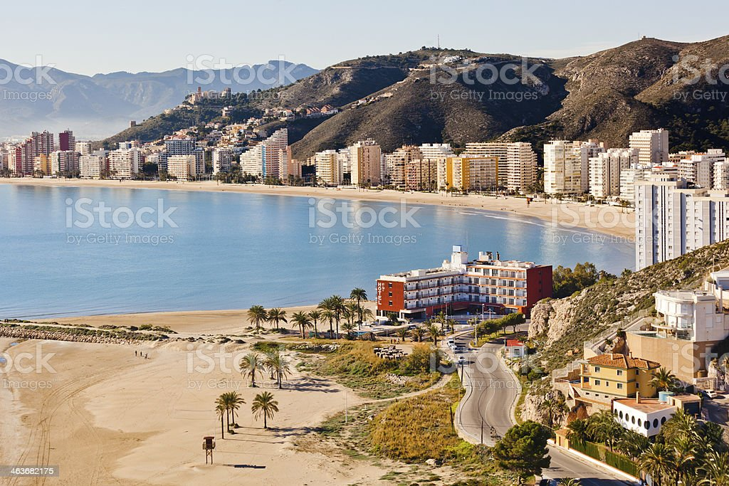 Cullera resort stock photo