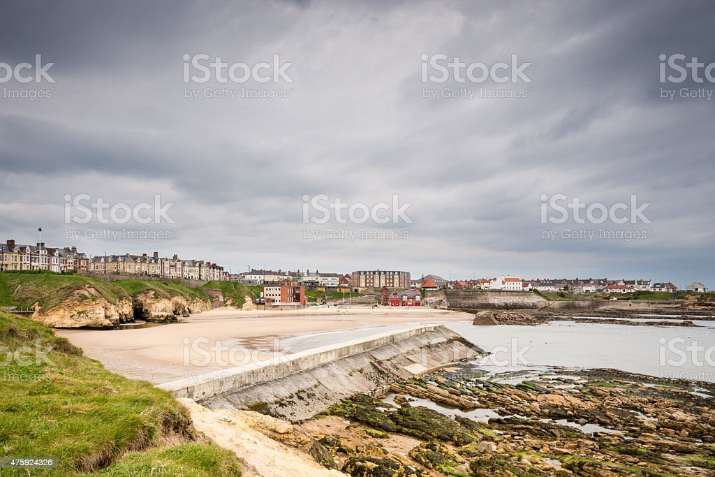Cullercoats Harbour stock photo