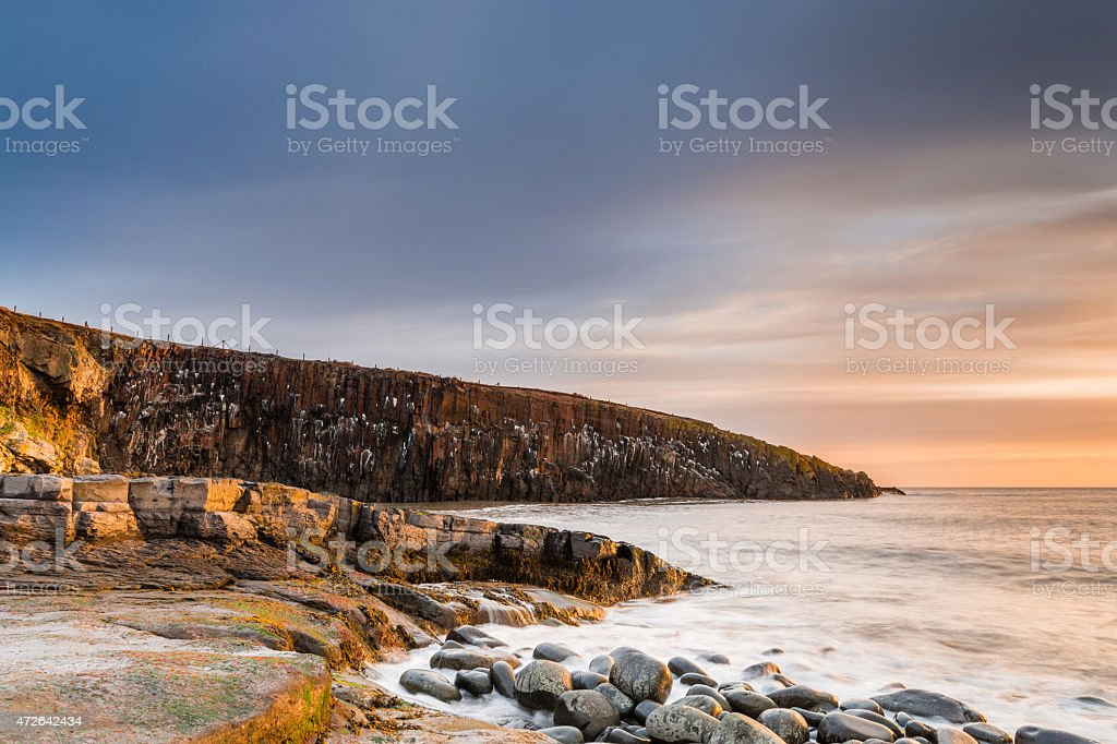 Cullernose Point and Whale Back Folds stock photo