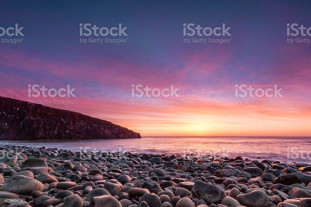 Cullernose Point at Dawn stock photo