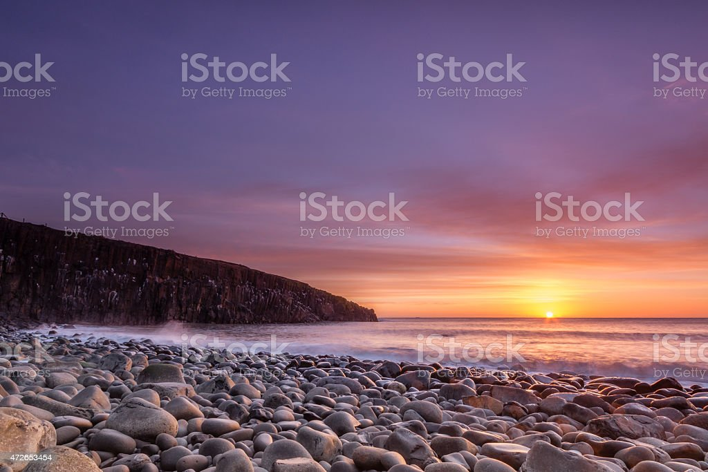 Cullernose Point at Sunrise stock photo
