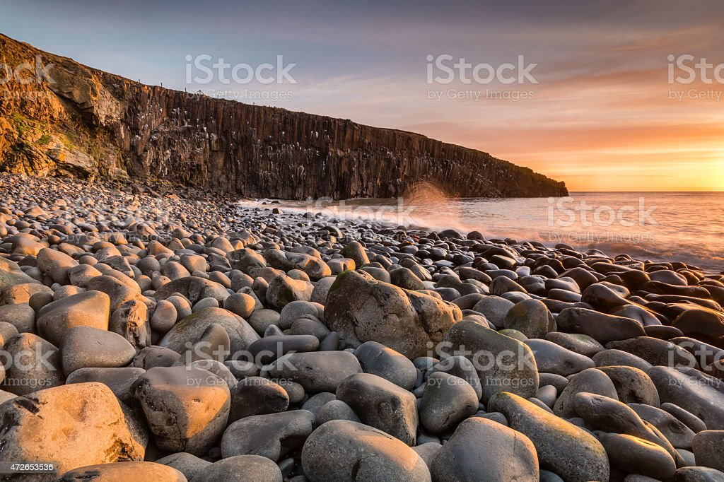 Cullernose Point in early morning stock photo