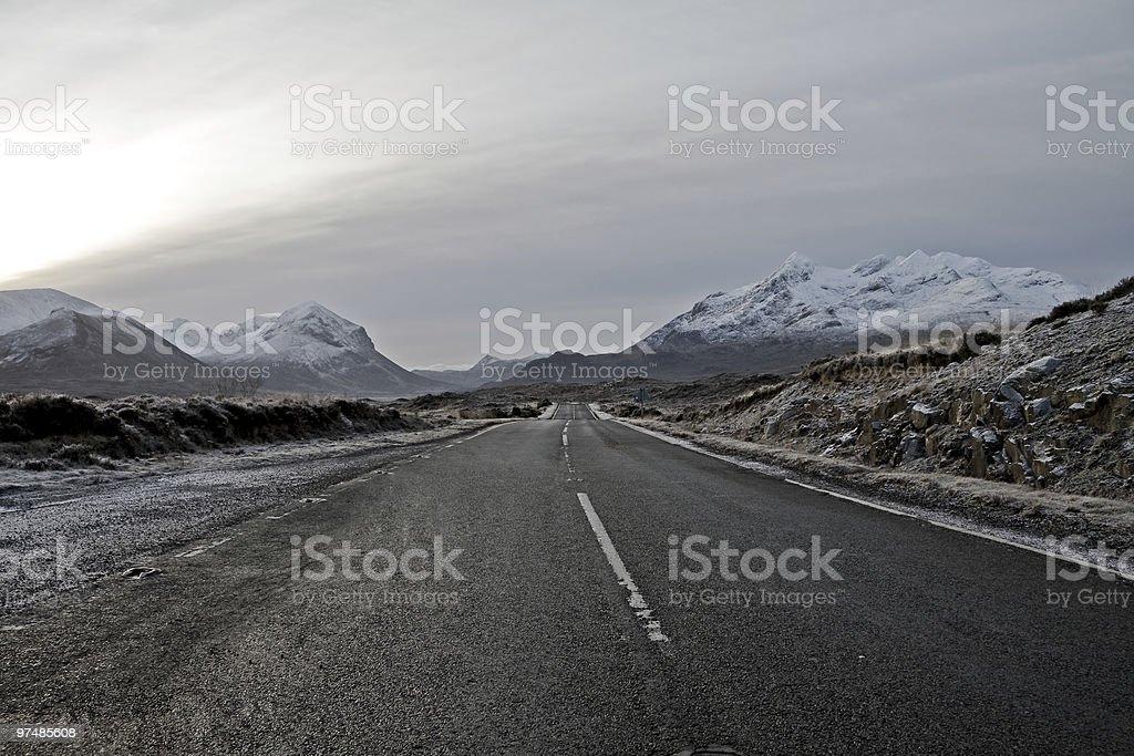 Cullin Mountains on the isle of Skye scotland royalty-free stock photo