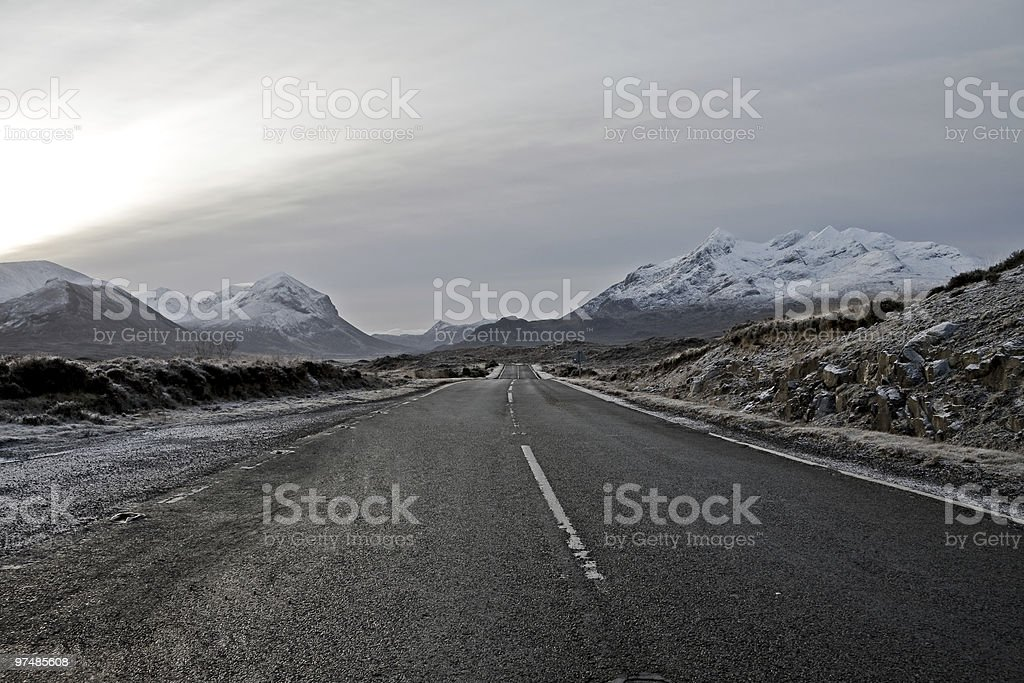 Cullin Mountains on the isle of Skye scotland stock photo