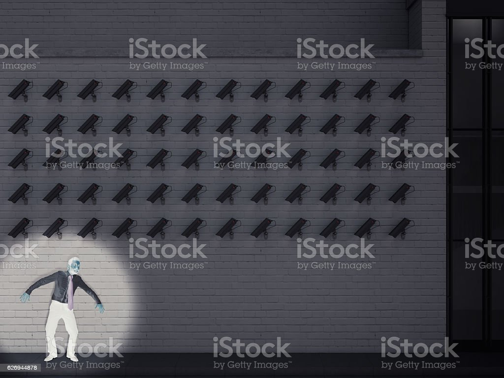 Culprit captured by the cameras stock photo