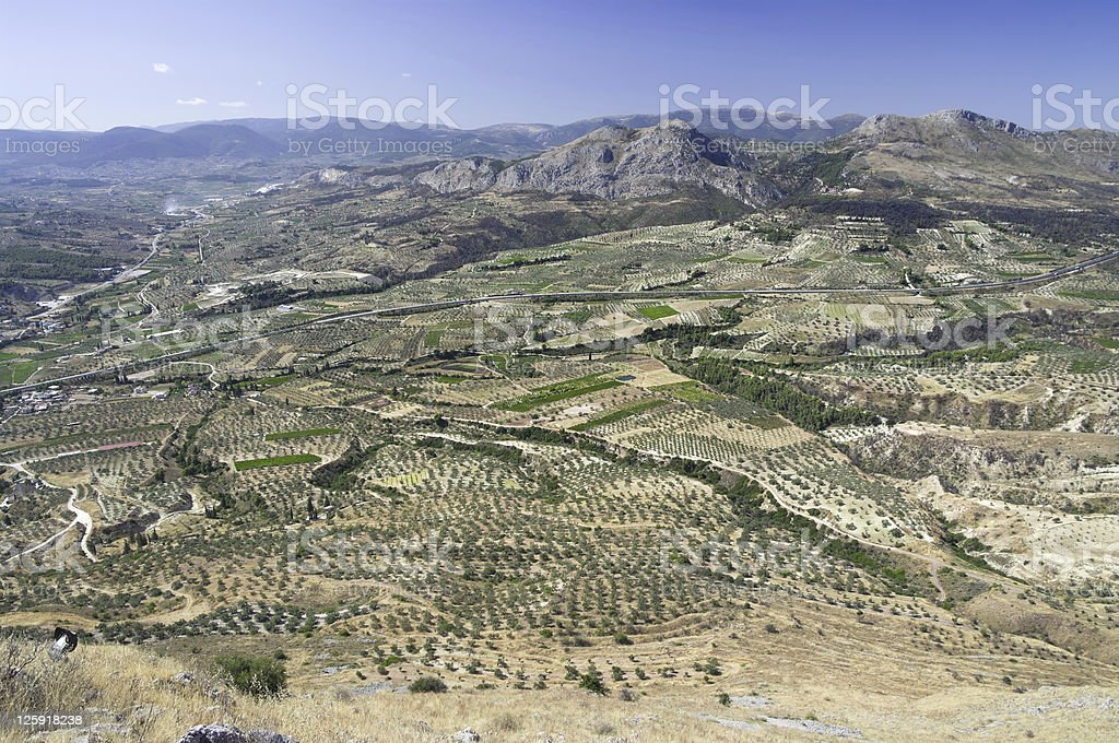 cultivated land greek royalty-free stock photo