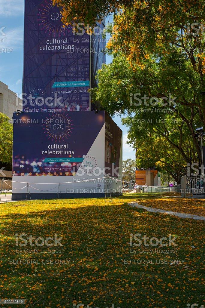 Cultural Celebrations, G20 Brisbane, South Bank stock photo