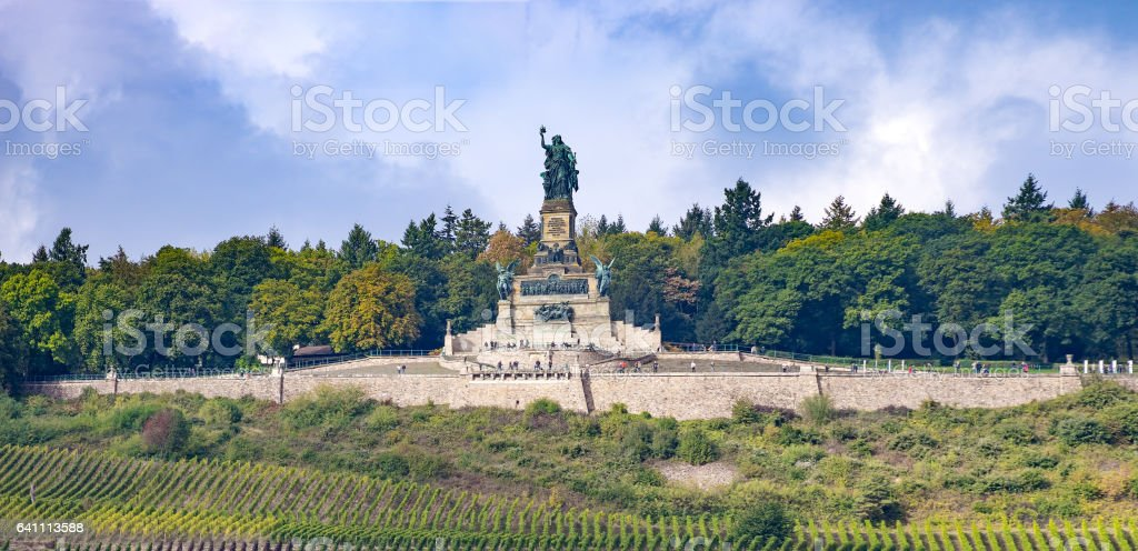 Cultural heritage middle rhine valley Germany near Bingen and Ruedesheim stock photo