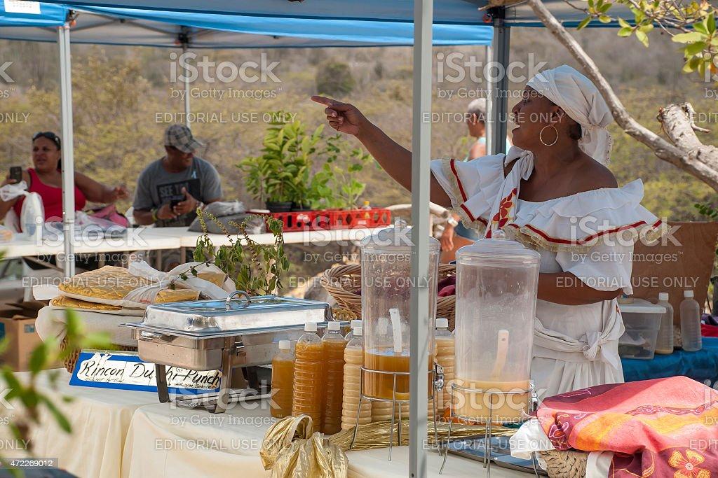 Cultural Market in Rincon, Bonaire stock photo