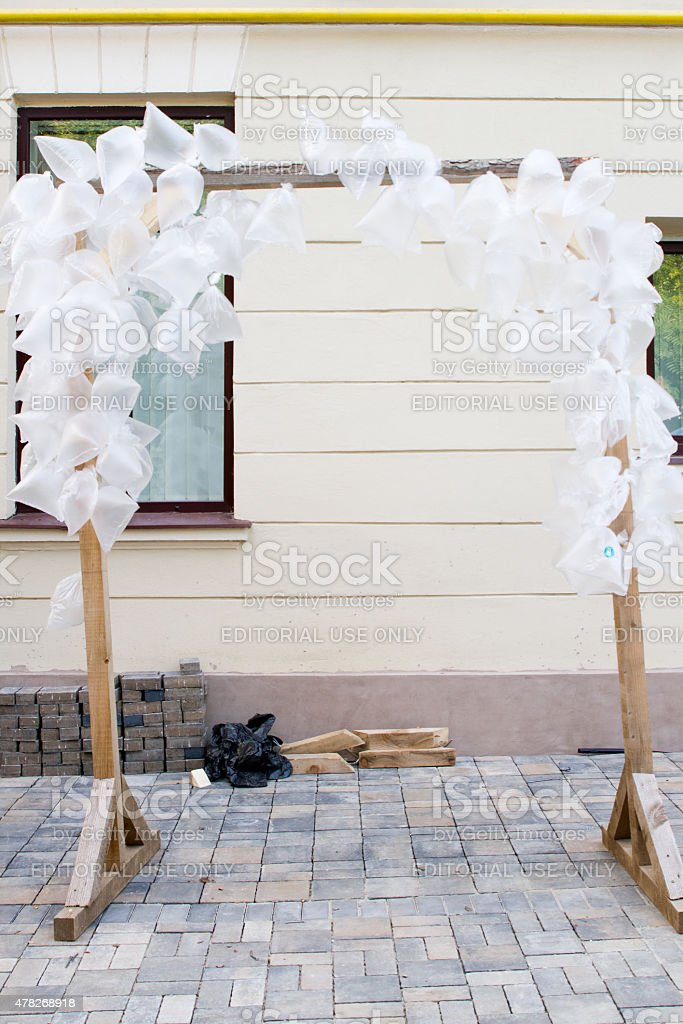 Cultural projects Street Delivery royalty-free stock photo