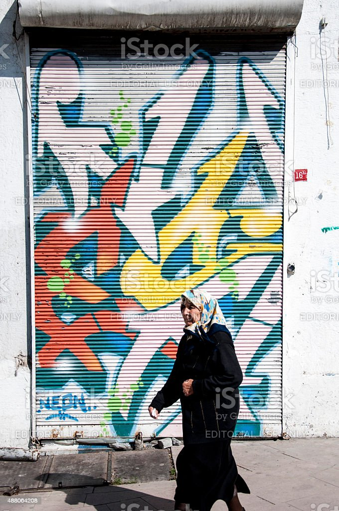 Culture mesh in Istanbul stock photo