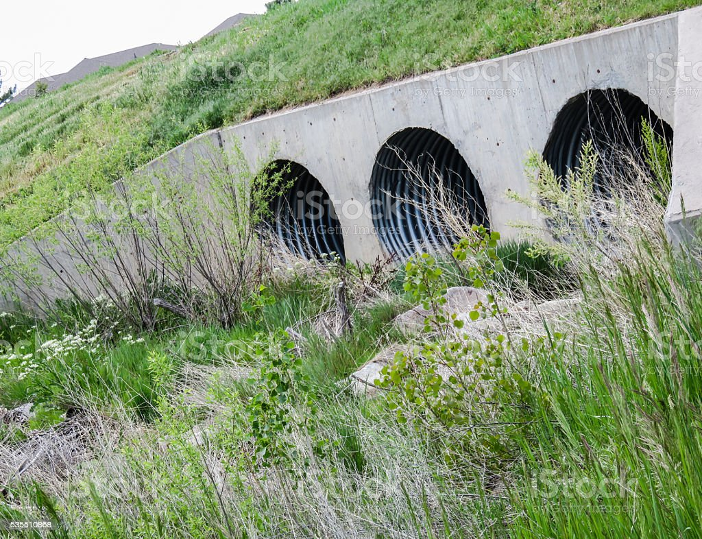 Culvert Drainage System stock photo