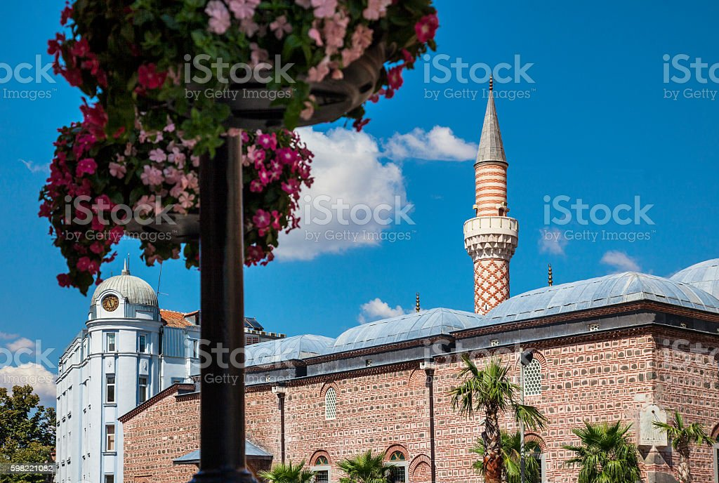 Cuma Camii Dzhumaya Mosque Plovdiv stock photo