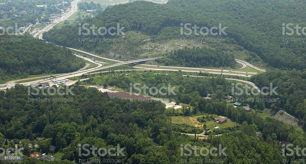 Cumberland Gap byways stock photo