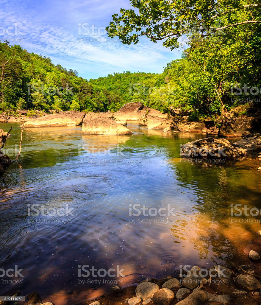 Cumberland River stock photo