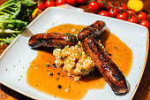 Cumberland sausage and mash with gravy