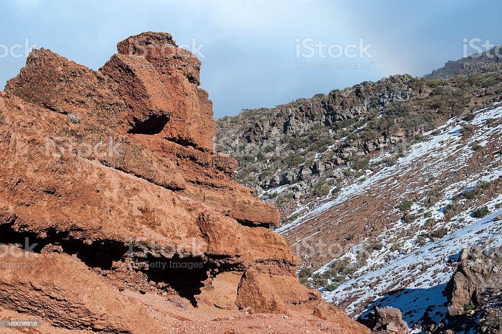 Cumbre Nueva mountain ridge, La Palma stock photo