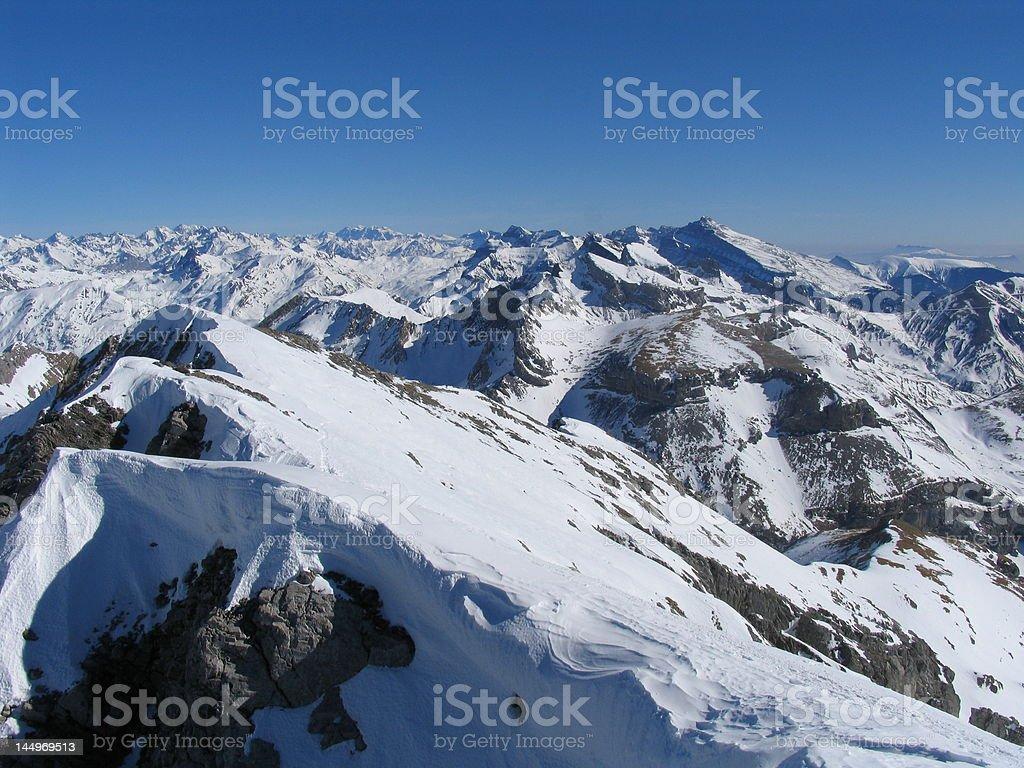 Cumbres pirenaicas stock photo