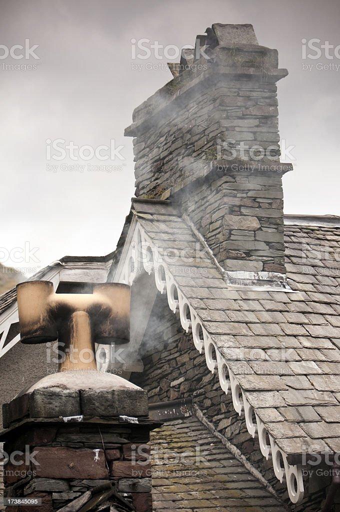 Cumbrian Chimneys stock photo