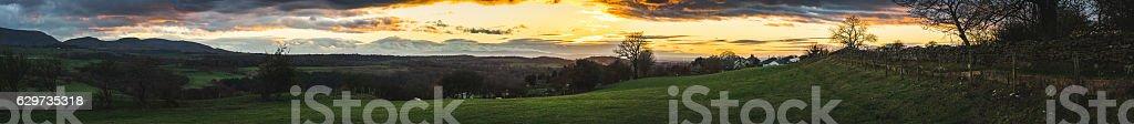 Cumbrian countryside panorama stock photo