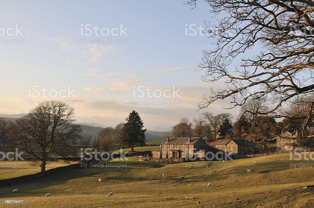 Cumbrian countryside. stock photo