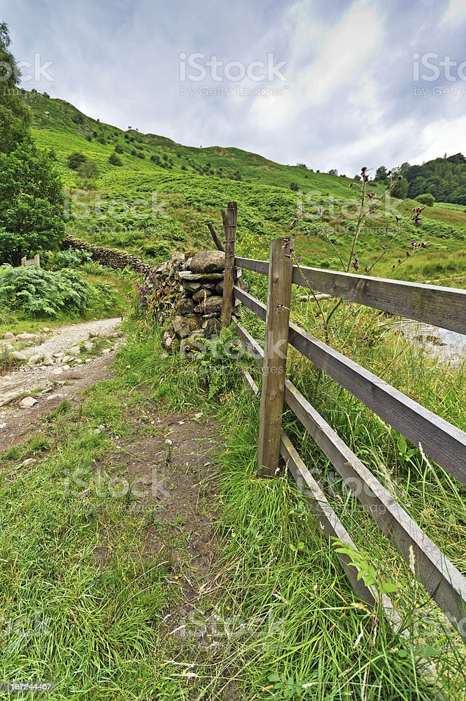 Cumbrian Fence royalty-free stock photo