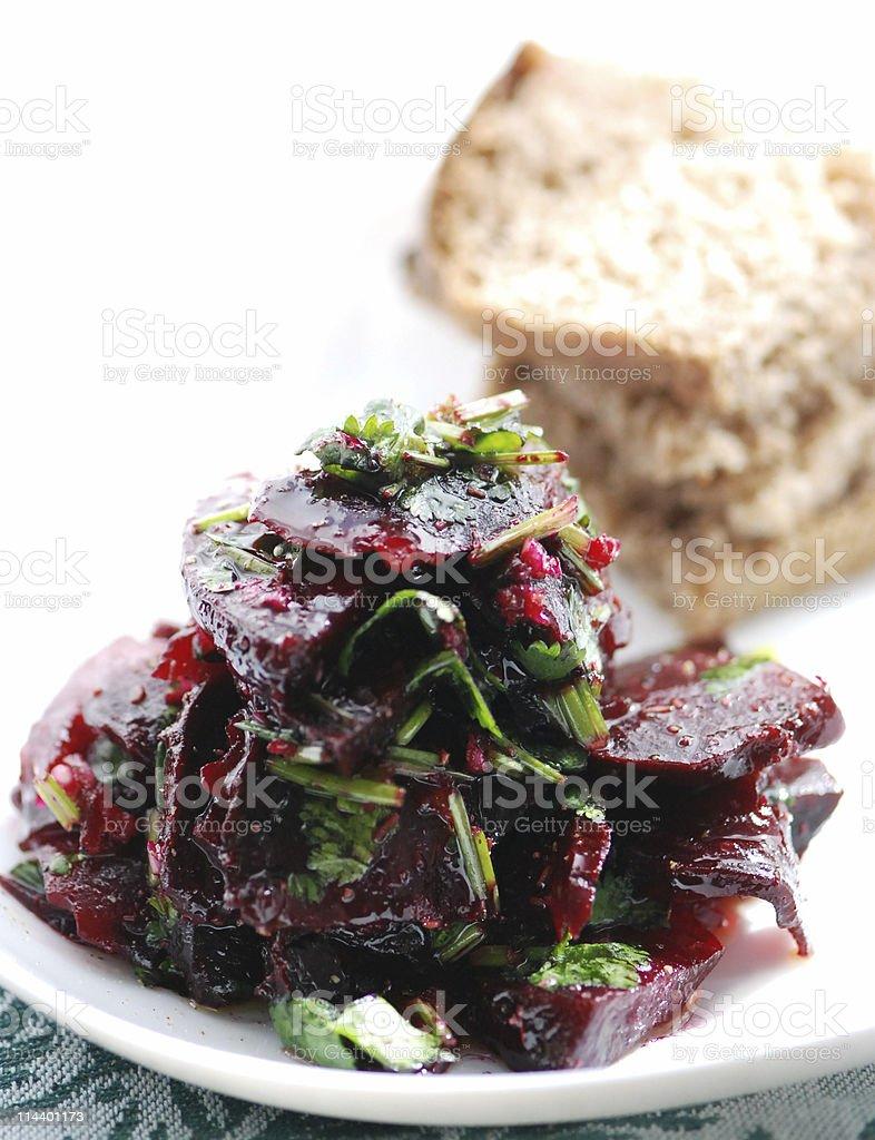 Cumin & Coriander Beet Salad royalty-free stock photo