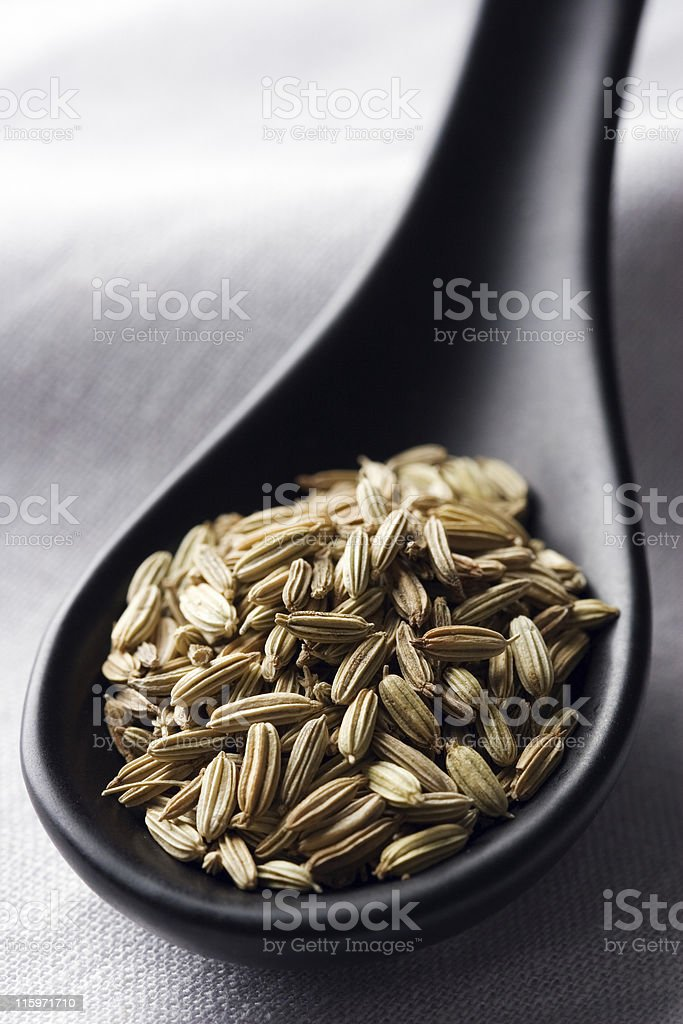 Cumin grains stock photo