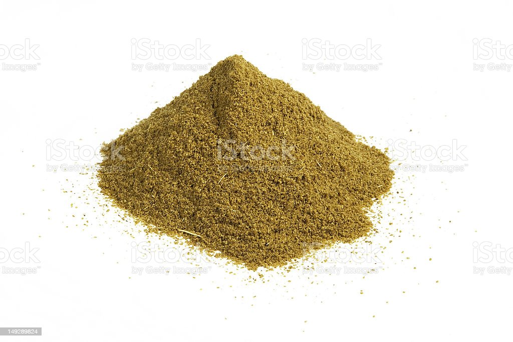 cumin heap stock photo