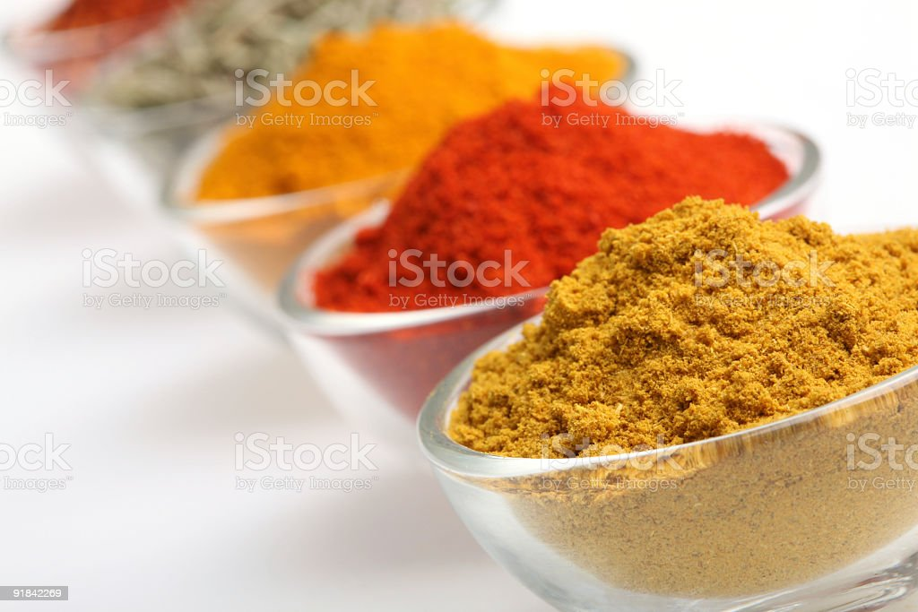 Cumin in a glass bowl royalty-free stock photo